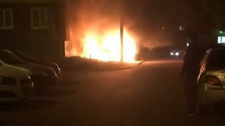 В Стерлитамаке сгорела дотла иномарка