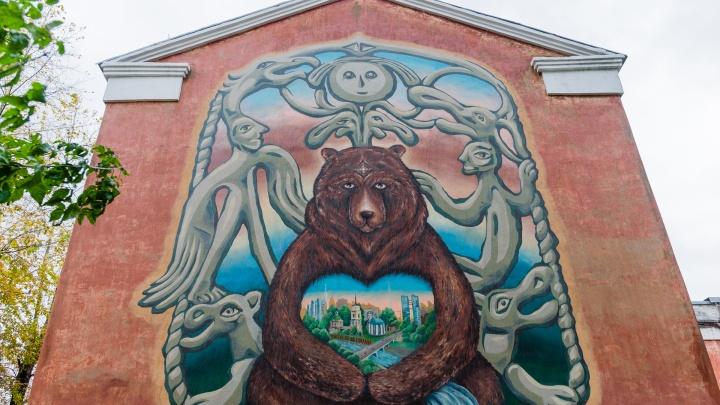 В центре Перми появилось первое интерактивное граффити. Его герои будут оживать