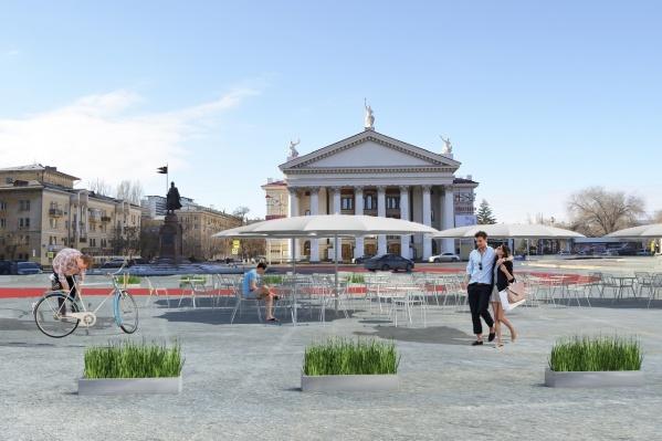 Волгоградцы хотят, чтобы на площади было удобно не только машинам, но и людям