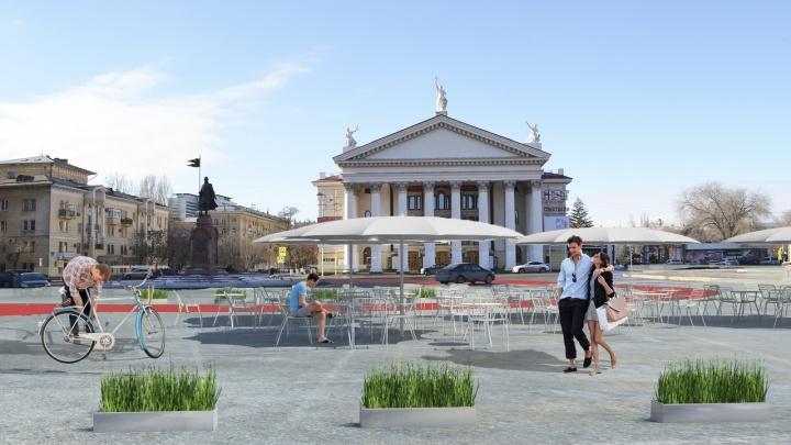 «Для начала хватит и двух банок краски»: в Лейпциге готовят проект пешеходной площади Павших борцов