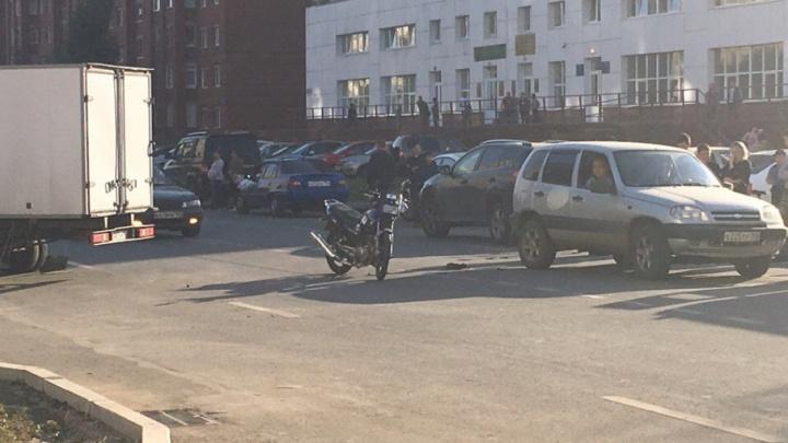В Уфе «газель» сбила мотоциклиста