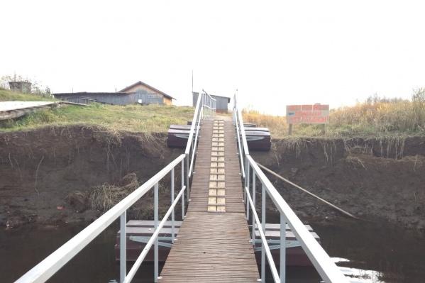 Мост в Филькино построили с крутым спуском