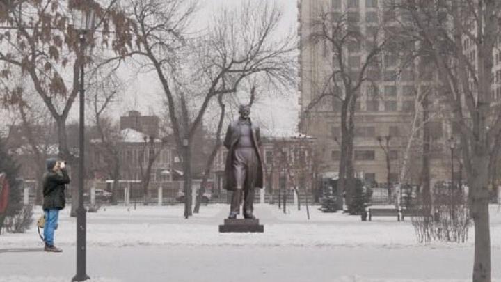 Памятник композитору Шостаковичу в Самаре подсветят