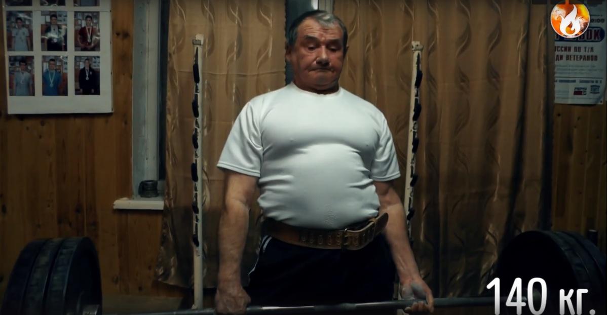 Несмотря на 73-летний возраст, Владимир Семёнов находится в отличной физической форме
