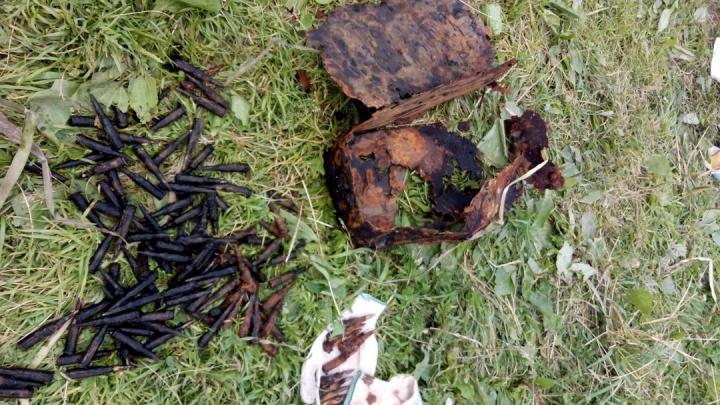 В реке на окраине Екатеринбурга дети нашли ящик с патронами