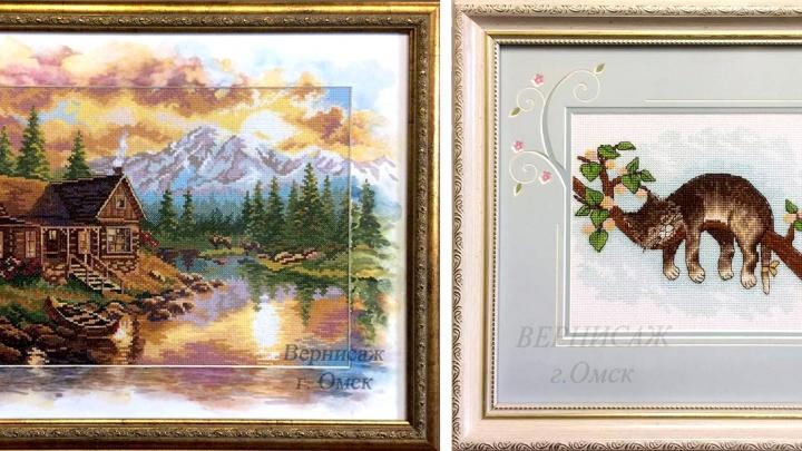 Оригинальное оформление фотографий и картин: омичи стали заказывать рисованные паспарту