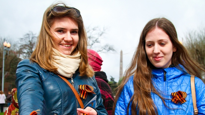 «Планируем повторить»: пять тысяч георгиевских ленточек подарили волгоградцам
