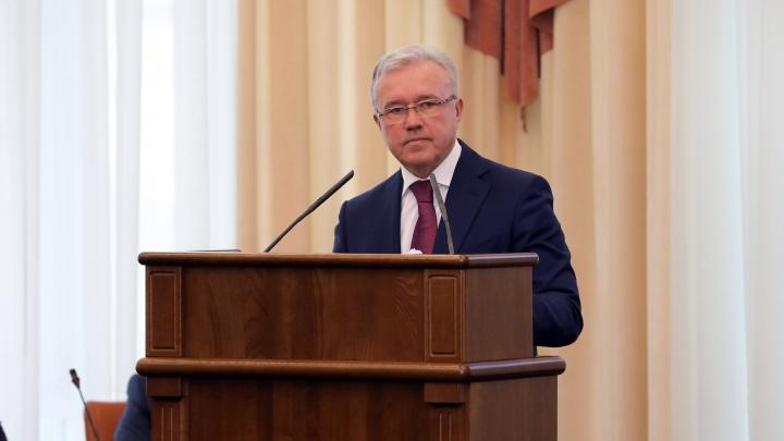Доходы губернатора Александра Усса за год упали на 200 миллионов