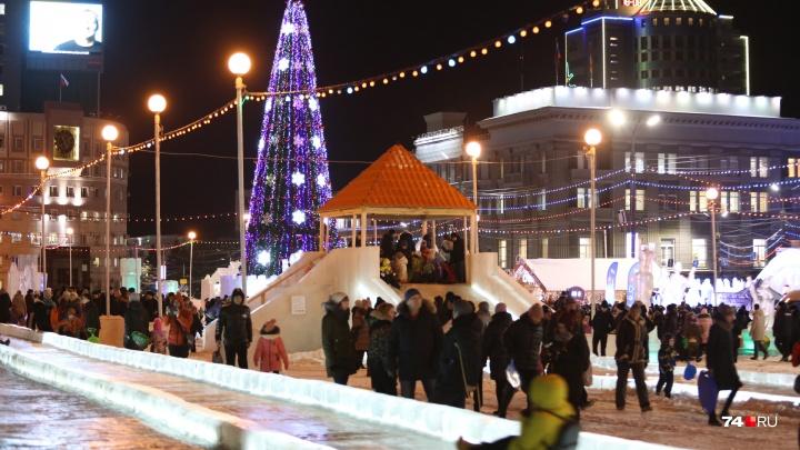Челябинцы не смогут уехать на общественном транспорте с новогодних гуляний в центре города