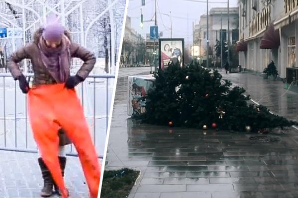 Утром 1 января в Ростове на улицах встречались самые стойкие жители