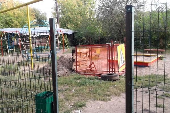 Территория ремонтных работ