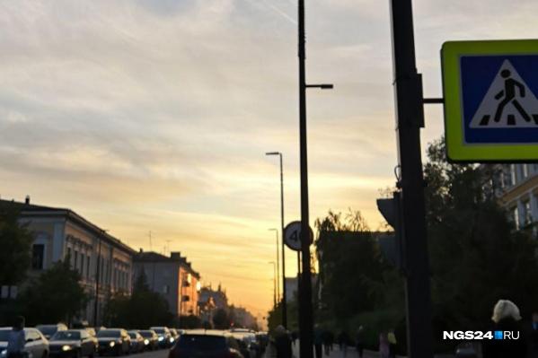 Закат на проспекте Мира