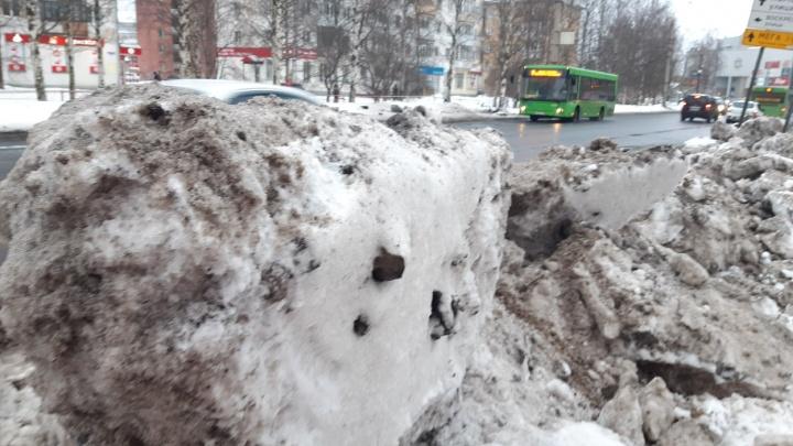 С каких улиц Архангельска будут убирать снег на этой неделе?