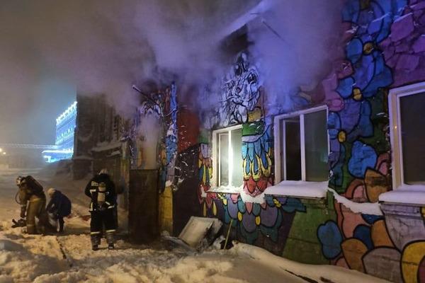 В Норильске сгорел приют с бездомными животными