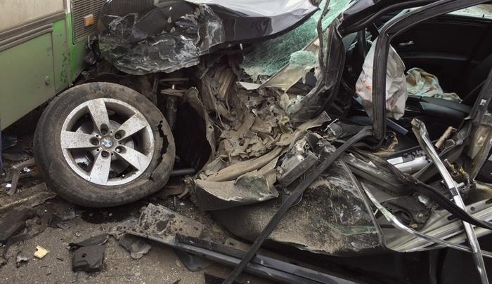 Южноуралец на иномарке врезался в автобус с пассажирами
