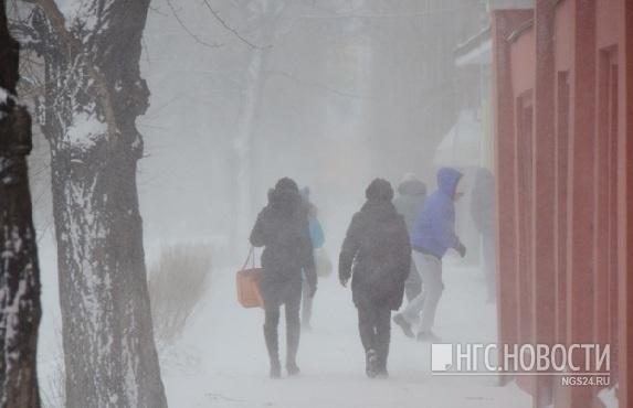 Вместе с потеплением в Красноярск приходит сильный ветер