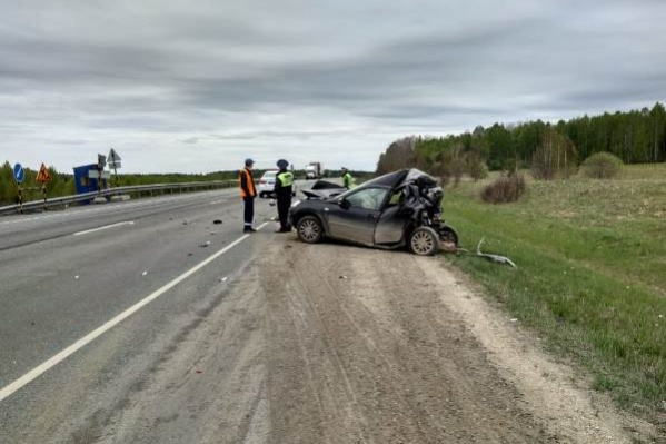 Авария случилась утром, в момент ДТПLada Granta не ехала