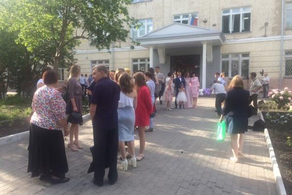 Выпускной вечер в новосибирской школе