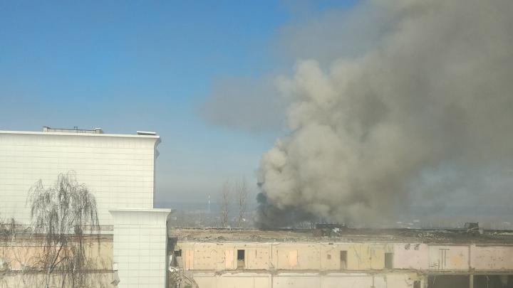 При сносе ДК «Телта» в Перми произошел пожар