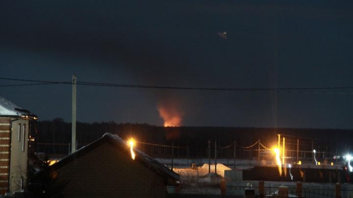 Под Челябинском после пожара возник конфликт между местными жителями и сотрудниками полигона