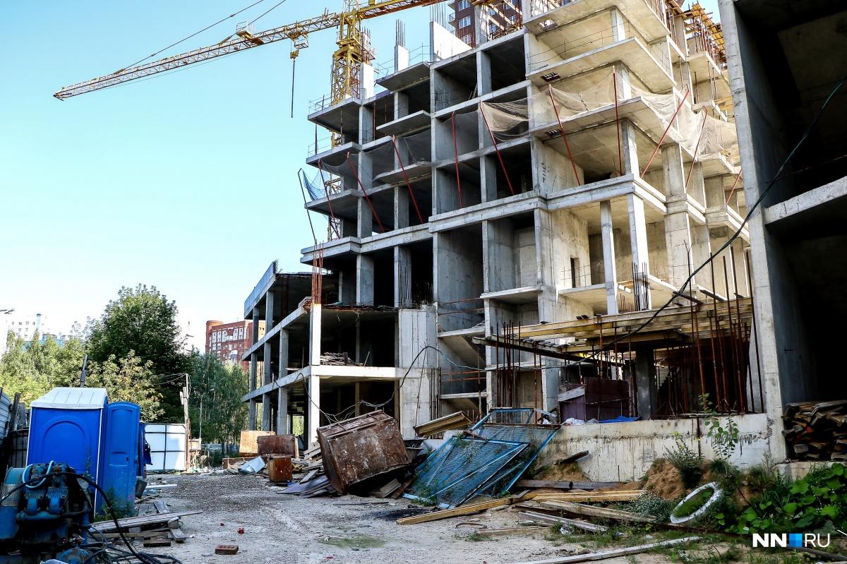 Стройка двух домов в ЖК «Европейский»встала несколько лет назад