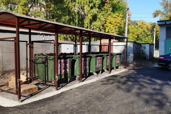 Вот так выглядят обновленные площадки для коммунальных отходов