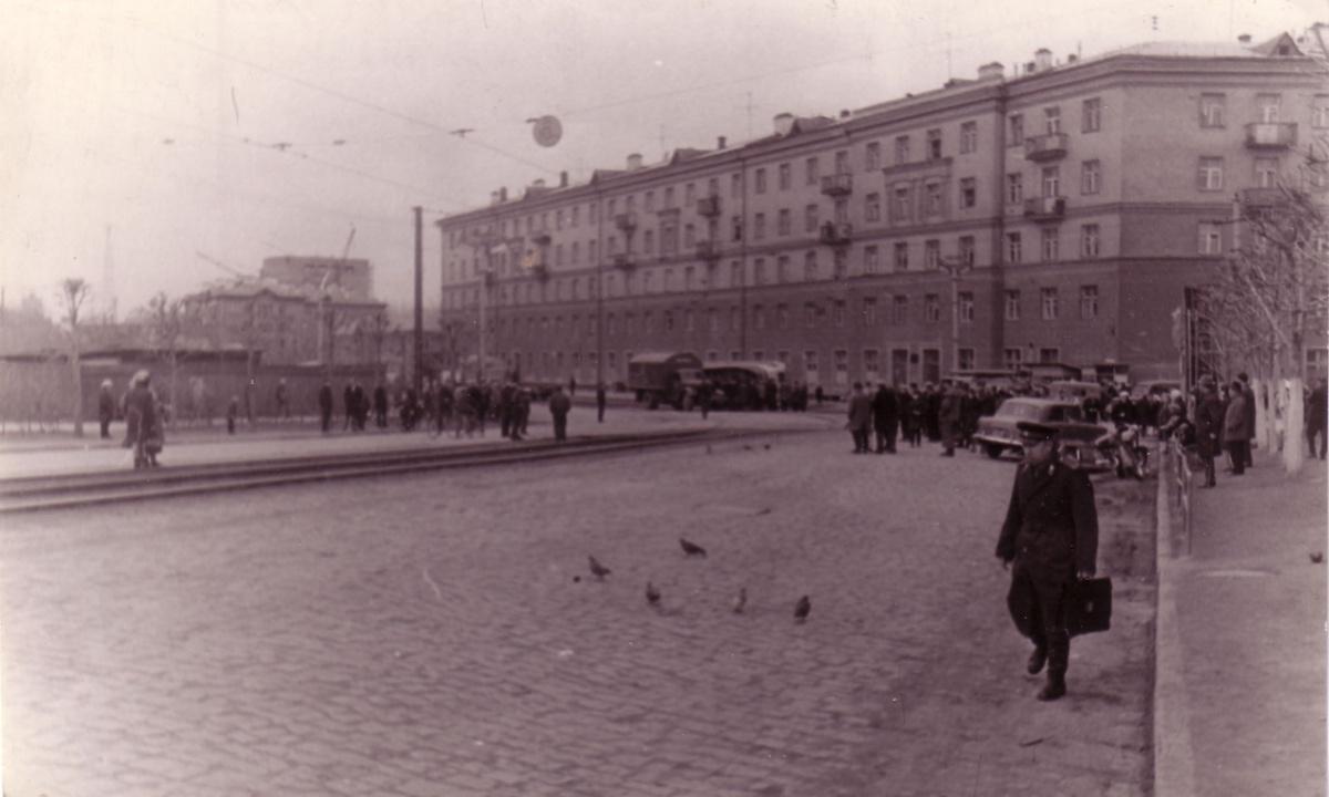 Место аварии в 1969 году, остановка была за поворотом