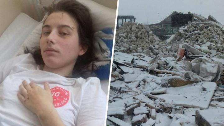 «Мама, я хочу жить!»: 16-летнюю девочку завалило руинами дома после взрыва