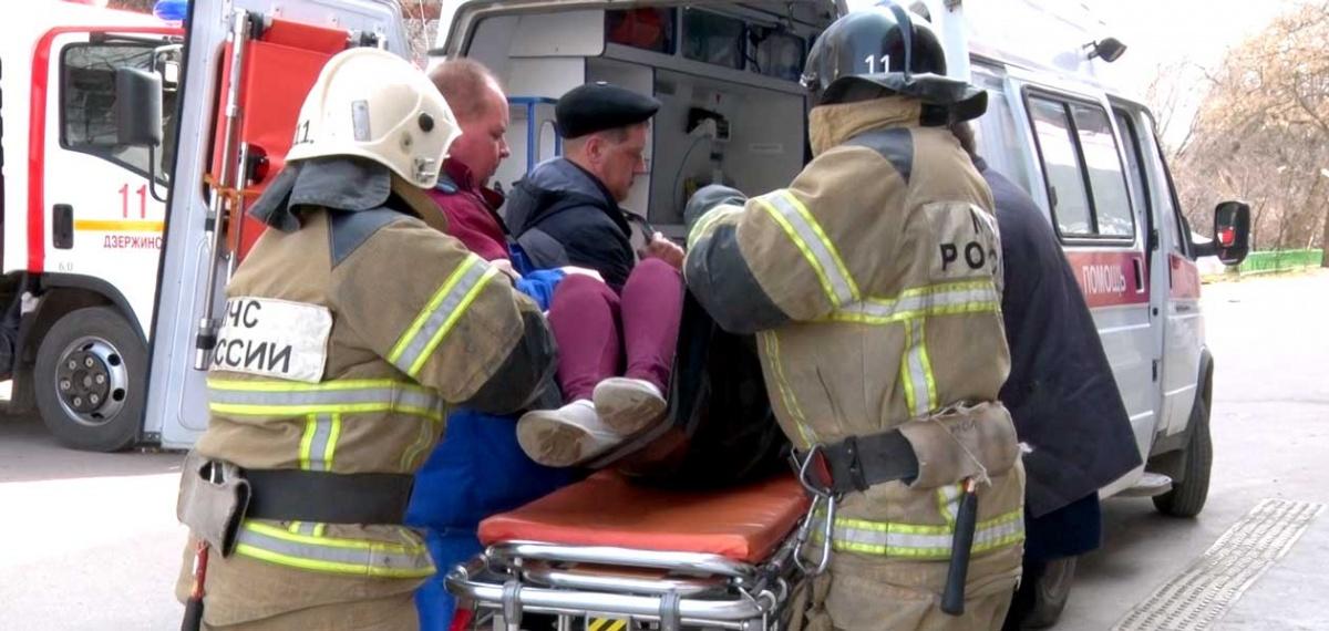 Пострадавших увезли на скорой помощи
