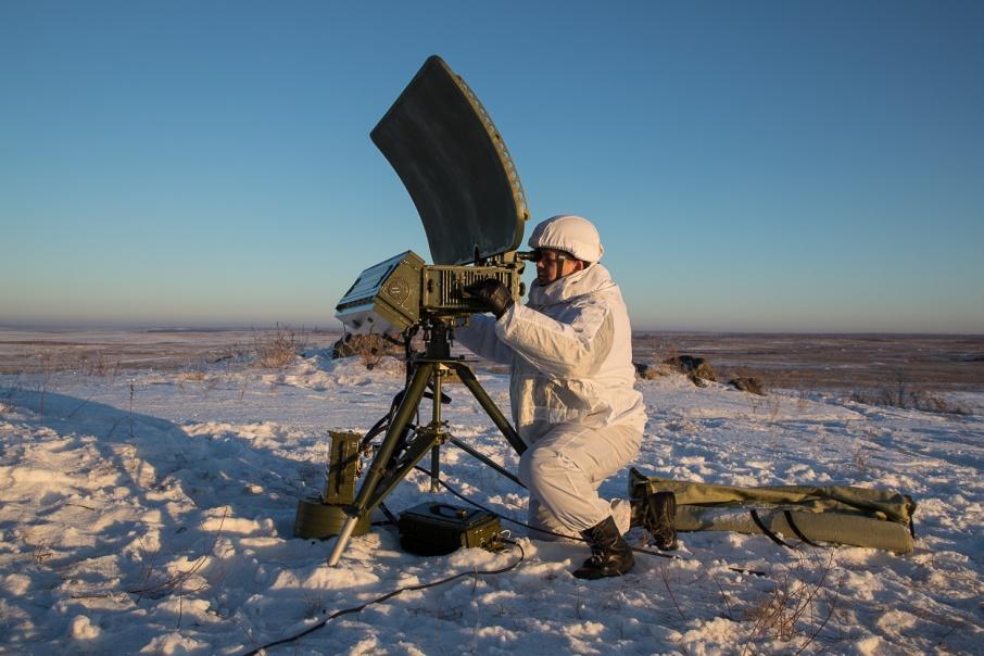Переносная станция предназначена для разведки целей, движущихся по земле, воде и воздуху