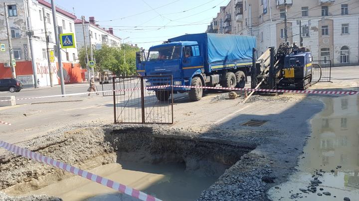 «Водный союз» расторгает договор с подрядчиком, работавшим на улице Коли Мяготина в Кургане