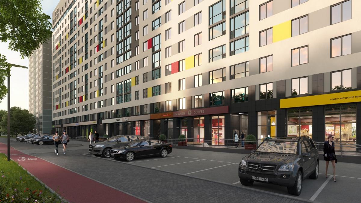 На первых этажах дома расположатся коммерческие помещения с объектами необходимой инфраструктуры — магазины, сервисы бытовых услуг