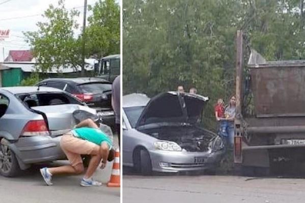 По словам очевидцев аварии, водитель грузовика был пьян<br><br>