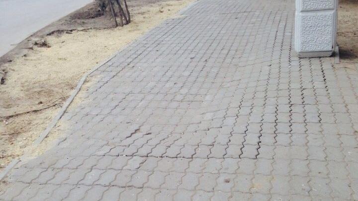 «Через месяц всё повторилось»: 3D-дорожка в Волжском, переделанная чиновниками, вернулась на место