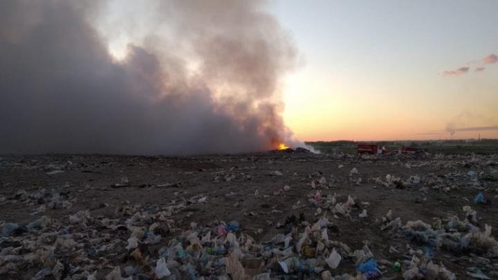 Прокуратура начала проверку из-за пожара на мусорном полигоне в Калачинске