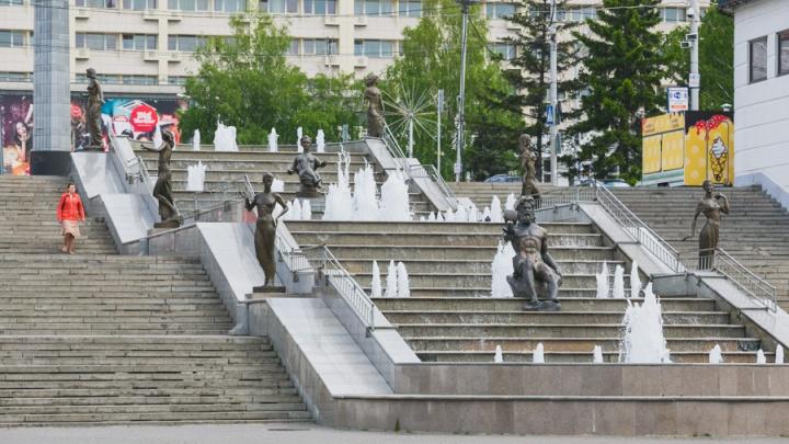 В Красноярске завершают сезон фонтанов и убирают клумбы к зиме
