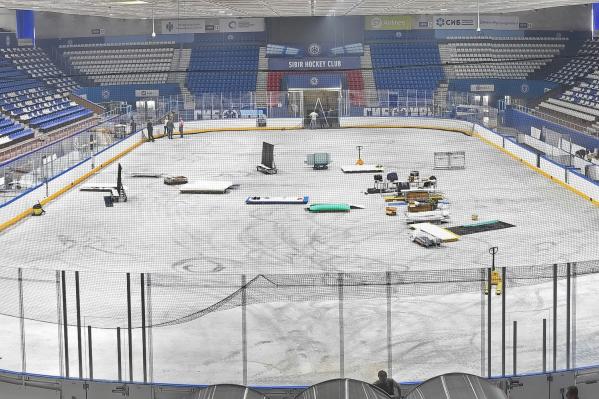 Коробку на стадионе «Сибирь» переделали под финский размер — она стала уже на 2 метра