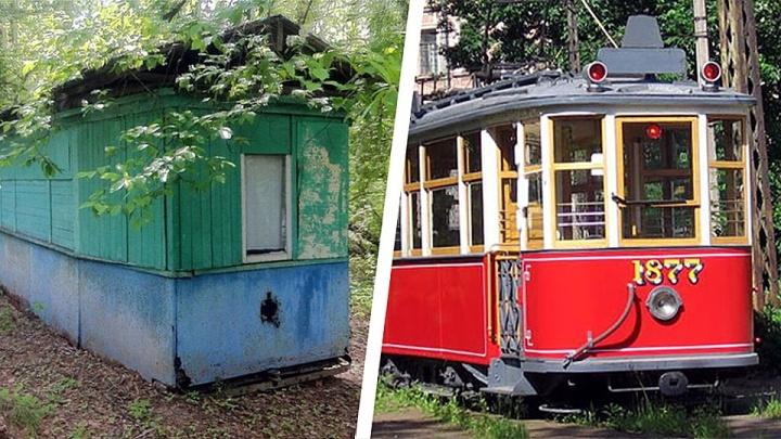 Новосибирцы отправляют вСанкт-Петербург вагон трамвая, которому исполнилось 100 лет