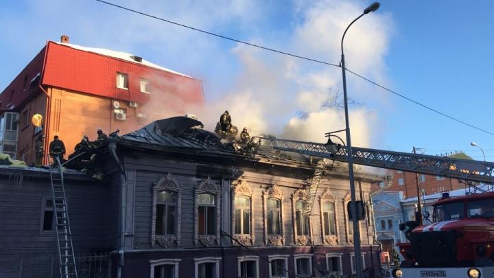 Из-за чего загорелся построенный в XIX веке особняк на Володарского? Официальная версия МЧС