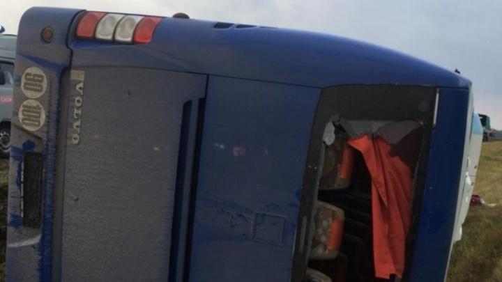 По пути в Волгоградскую область перевернулся автобус с детьми из Германии: шесть пострадавших