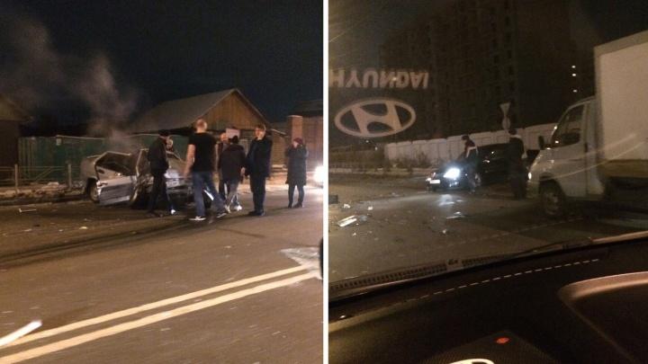 На 24-й Северной в «Ладе»зажало пассажира