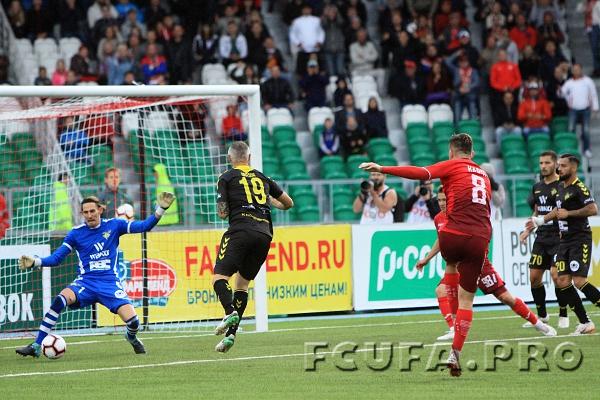 «Уфа» прошла в плей-офф раунд, сыграв вничью с клубом «Прогресс-Нидеркорн» в Люксембурге