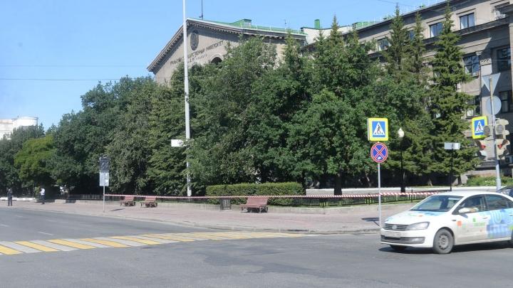 Возле корпуса УрФУ, куда сегодня приедет Путин, закрыли автобусную остановку