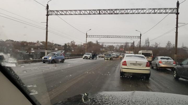 В Самарской области в массовое ДТП попали 10 автомобилей