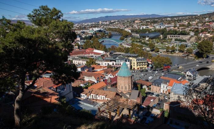 Вид на Тбилиси с горы Нарикала
