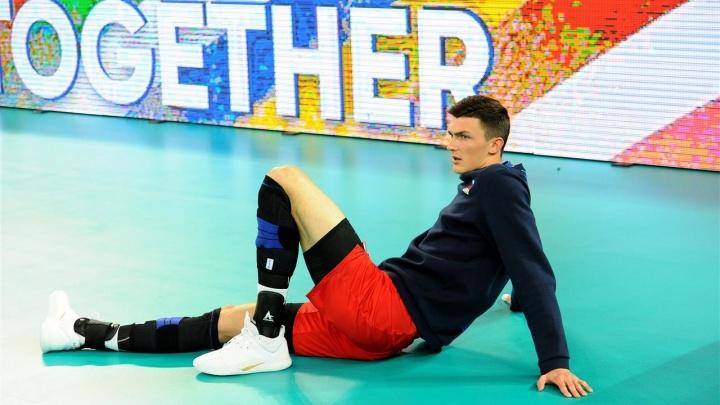 Новосибирский волейболист получил травму на чемпионате Европы