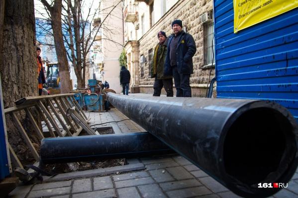 Новую канализацию проложат на одиннадцати улицах
