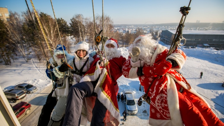Дед Мороз упал с неба (фоторепортаж)