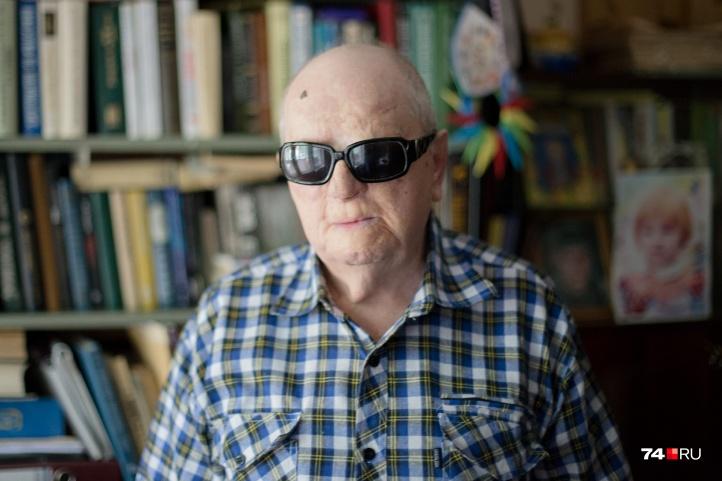 Незрячий Игорь Вишев занимается идеей бессмертия 60 лет из своих 85