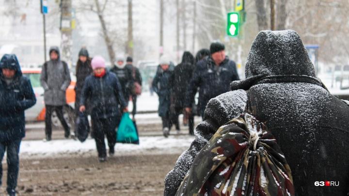 Сильный снегопад в Самаре продолжится до позднего вечера